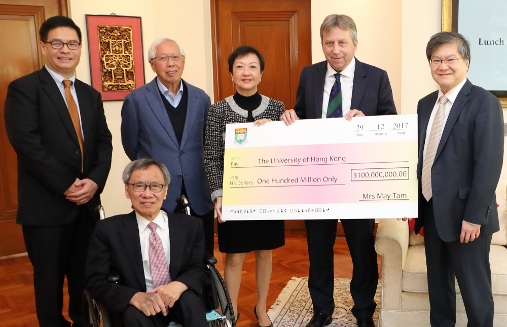 Prof. Tse served as matchmaker for donations of $140 million to HKU